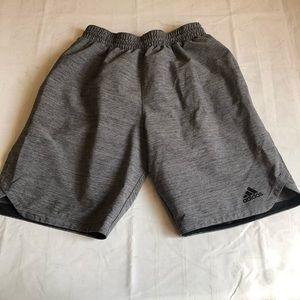 Adidas perforated gray shorts Medium